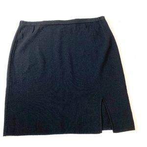 Calvin Klein knit sweater skirt side front slit